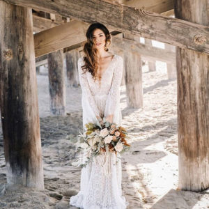 beach wedding dress inspo